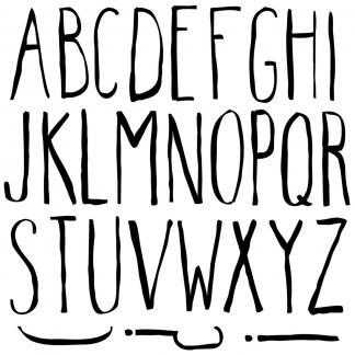 IOD stempel Farmhand alfabet stempel