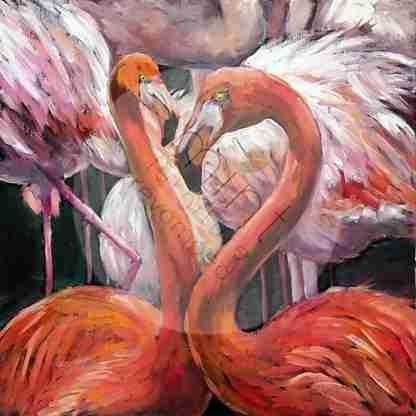 MINT decoupage papier - Flamingo