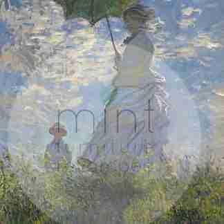 MINT decoupage papier Lady with a parasol