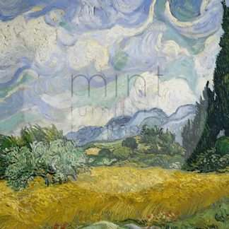 MINT decoupage papier Wheatfield with Cypresses