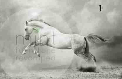MINT decoupage papier White horse