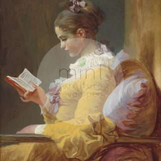 MINT decoupage papier Young girl reading