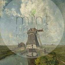 MINT decoupage paper Windmill