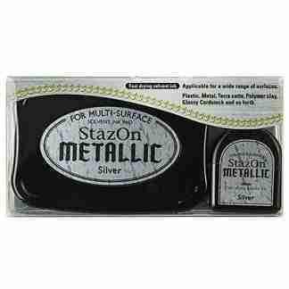 StazOn stempel inkt - Metallic Silver