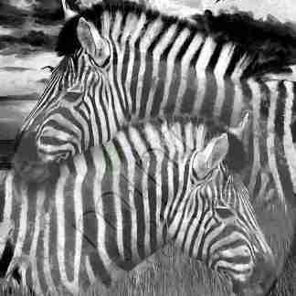 Mint decoupage paper Zebra's