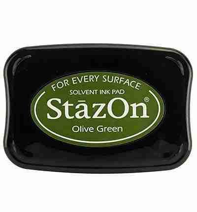 StazOn stempel inkt Olive Green