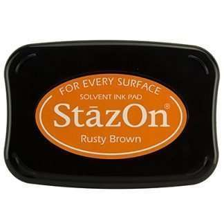 StazOn stempel inkt Rusty Brown