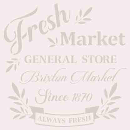 Stencil Fresh Market 25 x 25