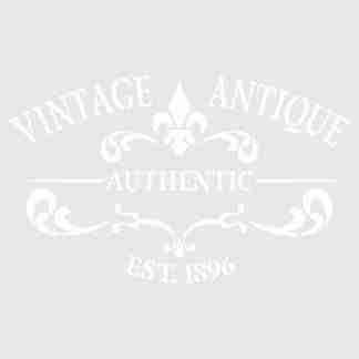 stencil vintage antique 20 x 30
