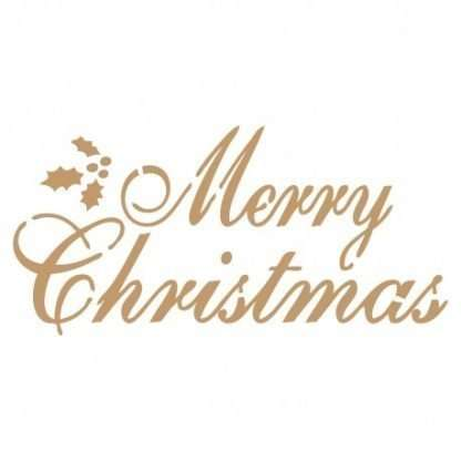 Stencil Merry Christmas 25 x 25