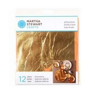 Martha Stewart • Gilding sheet 13,65x13,65cm x12 Gold