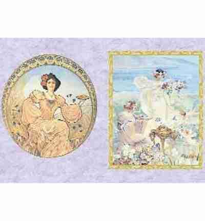 To-do Rice paper Art Nouveau 50 x 35