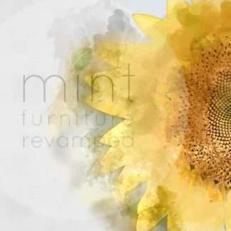 MINT decoupage Sunflower