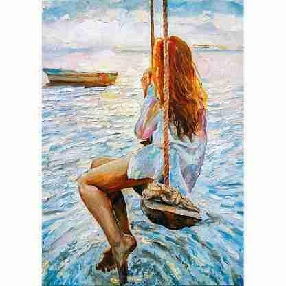 MINT by Michelle decoupage papier Girl On A Swing
