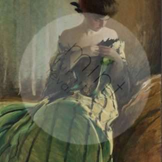 MINT decoupage paper Study in black and green