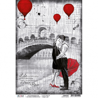 Ciao Bella rice paper Love in Venice -A4