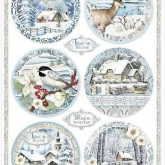 Stamperia rice paper christmas - dfsa4495 - A4