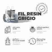 Reschimica -FIL GRIGIO - Fast polyurethane resin -500 gr.