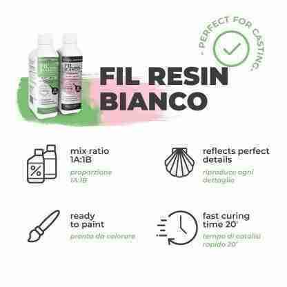 Reschimica -FIL BIANCO - Fast polyurethane resin -500 gr.