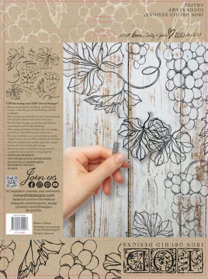 Iron orchid designs stempel Grapes