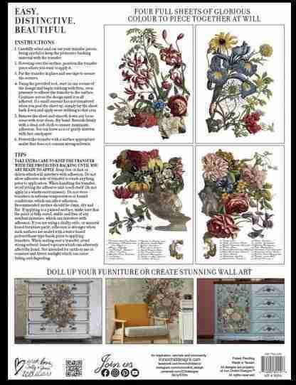 Iron Orchid Designs transfer June ( blok met 4 vellen)