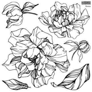 Iron orchid designs stempelset Peonies