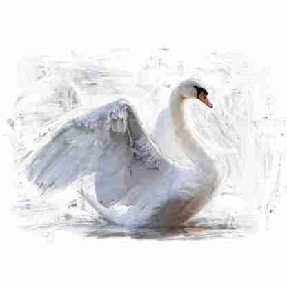 Mint by Michelle decoupage paper Reverse Swan