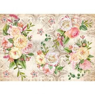 Redesign decoupage decor rice paper – Amiable Roses