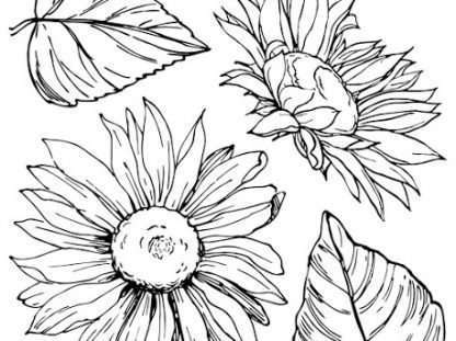 Iron orchid designs stempelset Sunflowers