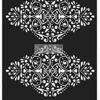 Redesign stencil Dotted Flourish 28 x 30
