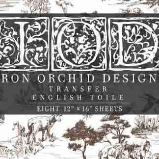 Iron Orchid Designs transfer English Toile ( blok met 8 vellen)