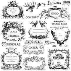 IOD kerst stempel Merry & Bright