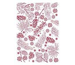 Stencil Christmas pine cones A4