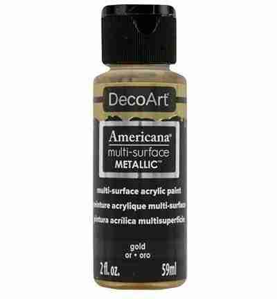 Decoart multisurface metallics gold