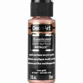 DecoArt multi-surface acrylverf - Metallics - Rose gold