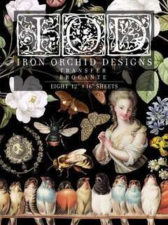 Iron Orchid Designs transfer Brocante ( blok met 8 vellen)