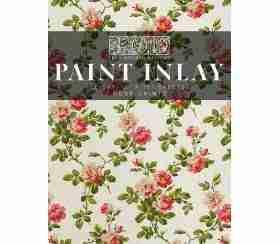IOD Paint Inlay - Rose chintz - 8 vellen