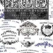 Iron Orchid Designs transfer Traditional Pots