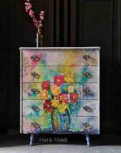 MINT by Michelle decoupage paper Karen's technicolour bouquet